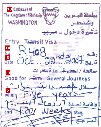Bahrain visa on arrival